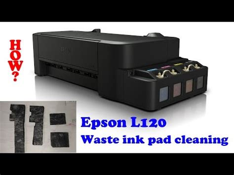 resetter epson l120 ink pad how to reset any epson printer waste ink pad counter e