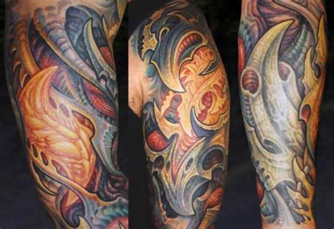 Biomechanical Tattoo Cain | biomechanical tattoo designed by guy aitchison design of