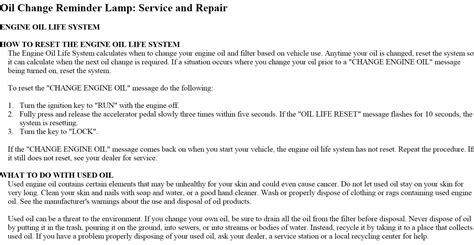 how to reset def light on duramax turn off oil change dash light chevy 4500 with6 6 duramax