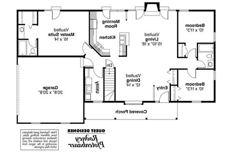 design house layout ranch house plans glenwood 42 015 associated designs