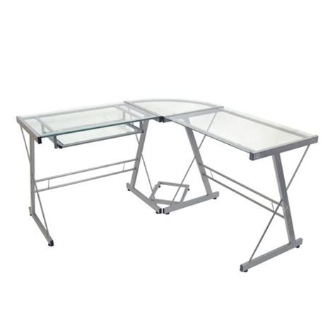 glass and metal corner computer desk glass and metal corner computer desk walmart canada
