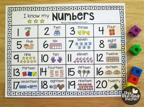 printable numbers chart 1 20 printable number chart for numbers 1 20 this reading mama