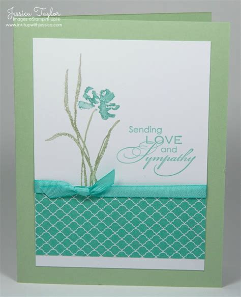 make sympathy card sympathy card ink it up with card
