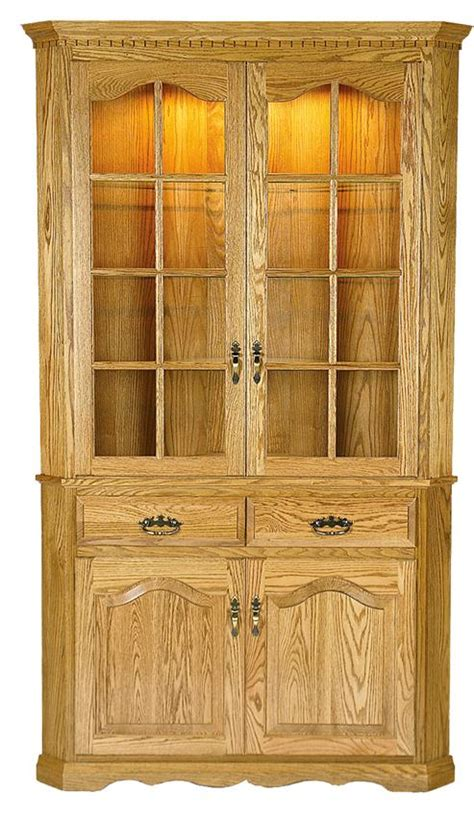 Corner Cabinet Hutch by Amish Door Corner Hutch Cabinet