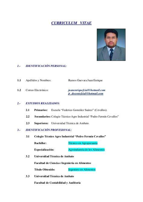 Modelo De Curriculum Vitae Basico De Un Estudiante Curriculum Vitae