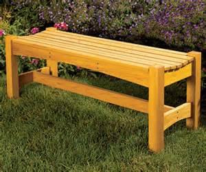 free garden bench woodworking plan