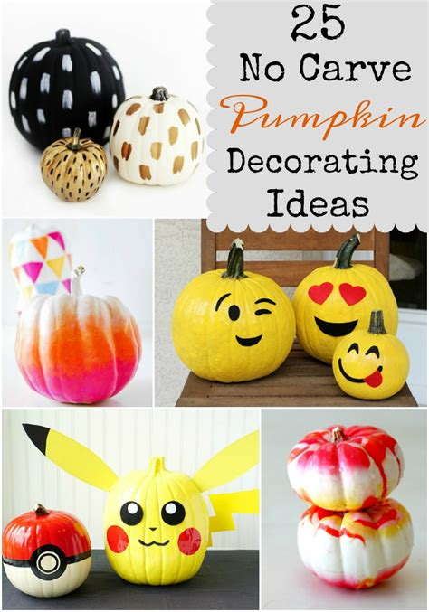 No Carve Pumpkin Decorating Ideas by 25 No Carve Pumpkin Decorating Ideas Giggles Galore