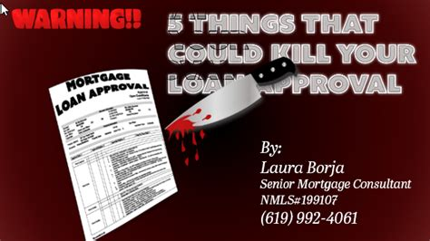 Things That Could Be Killing Your Relationship by 5 Thinks That Could Kill Your Loan Approval