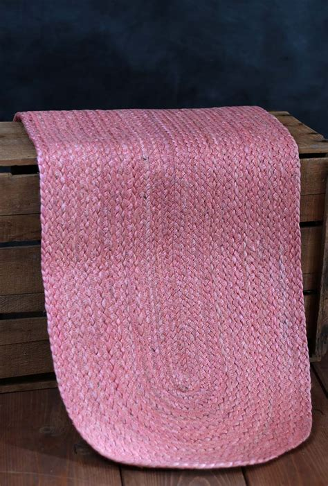 coral table runners coral jute 48 inch tablerunner by nancy s nook the