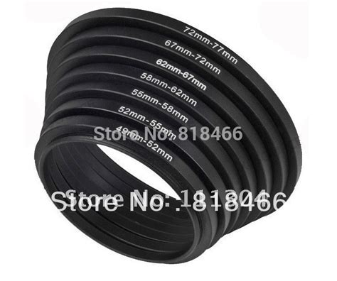 Step Up Ring 52 72 Mm 7pcs ring 49 52 55 58 62 67 72 77 mm 7pcs metal step up rings lens adapter filter set 49mm 52mm