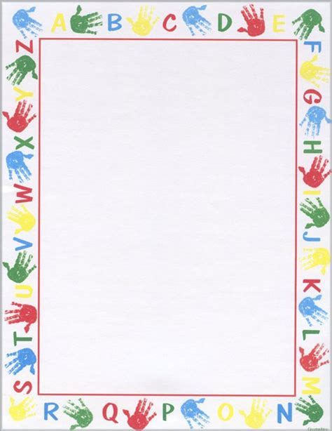 letter border templates free alphabet border printable school award certificates 39205