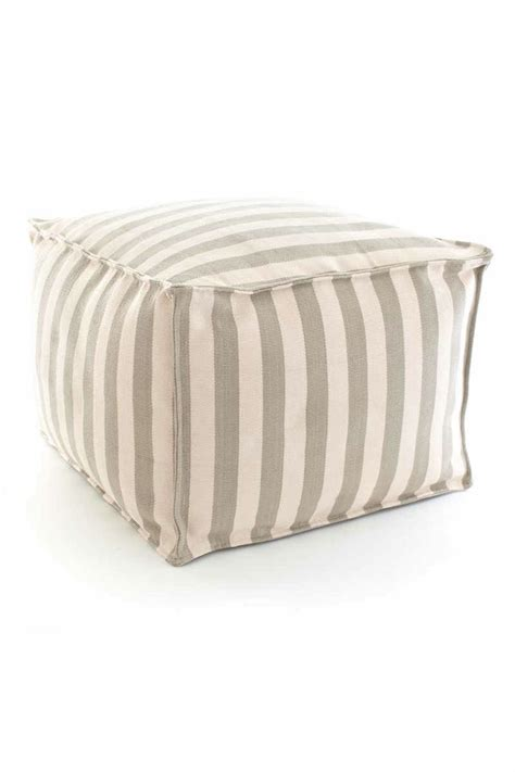 outdoor poufs and put two of these together in lieu of a coffee table in a
