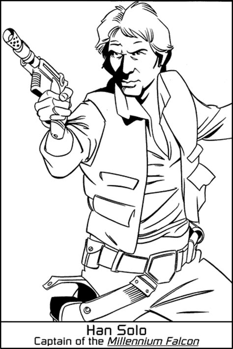 han solo coloring coloring pages
