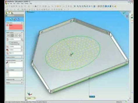 solidworks fill pattern solidworks 2006 fill pattern feature demo youtube