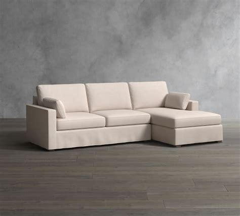 jenner square arm slipcovered sofa with chaise sectional