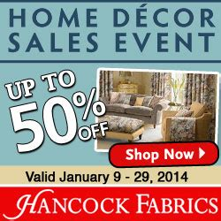 home decorators promotional code 10 off home decor sales event save 50 off at hancock fabrics