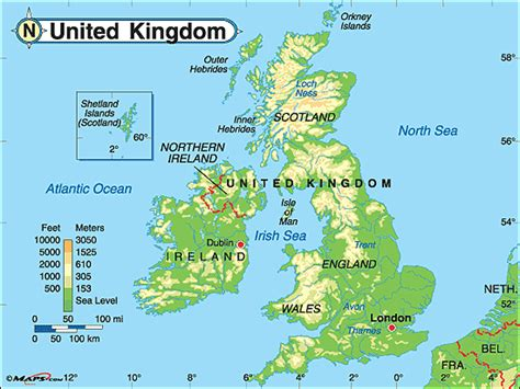 united kingdom map with mountains united kingdom physical map by maps com from maps com