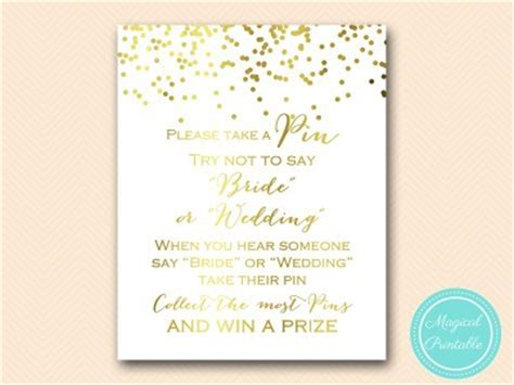 Gold Confetti Bridal Shower Games   Gold Foil   Magical