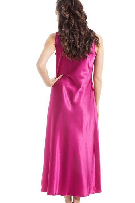 Luxury Pink luxury pink lace satin chemise