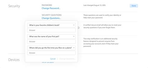 apple questions security and your apple id apple support