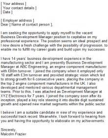 cover letter business development manager business development manager covering letter sle