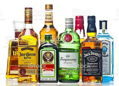 liquor bottles on a white background stock photo 459018635