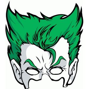 Free Printable Joker Mask | silhouette design store view design 98676 joker mask