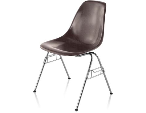 eames fiberglass chair eames 174 molded fiberglass side chair with stacking base
