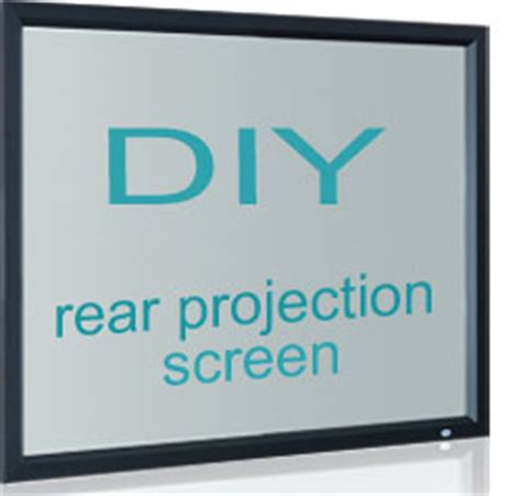 diy rear projection screen material and how to hix