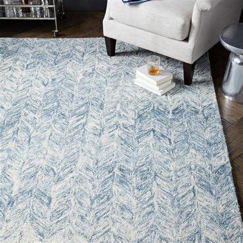vines wool rug blue lagoon west elm for the home