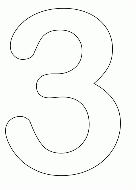 number 3 template number 3 coloring page coloring home