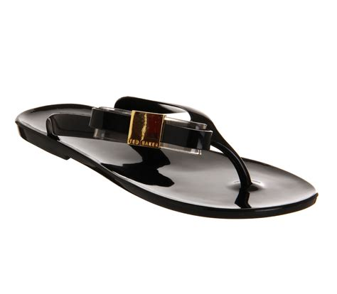Ted Baker Jelly Sandal womens ted baker hatha jelly flip flop black black bow exclusive sandals ebay