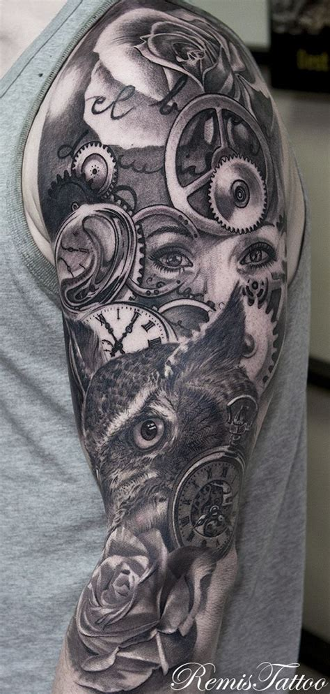 owl half sleeve tattoo 25 best ideas about owl sleeves on owl