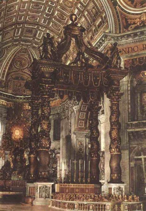 caratterizzano il baldacchino di bernini in san pietro s pietro nel barocco