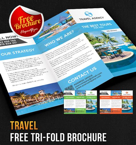 tri fold travel brochure template free 65 print ready brochure templates free psd indesign ai