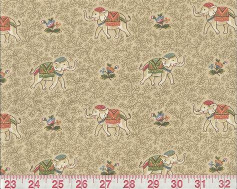 Elephant Upholstery Fabric by P Kaufmann Beige Elephant Print Upholstery Fabric Ellie