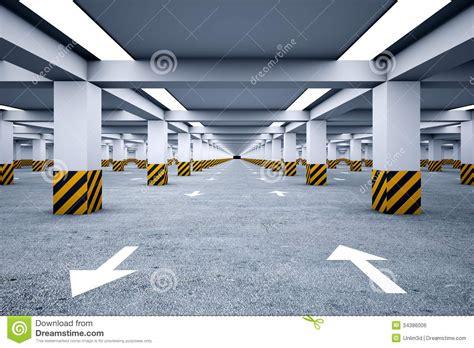 2 Car Garage Plans underground parking without cars stock illustration