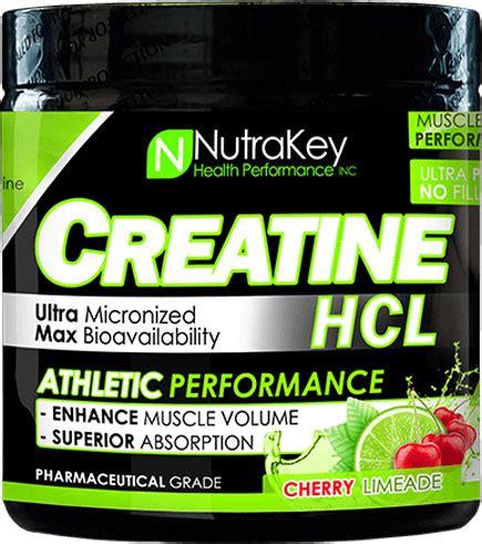 creatine 5 gm nutrakey creatine hcl cherry limeade 187 5 gm 125 servings
