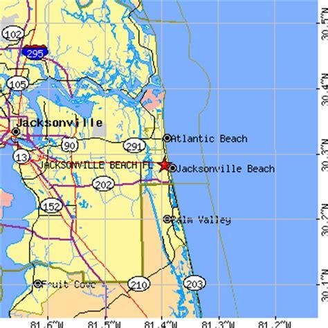 zip code map jacksonville beach fl jacksonville beach florida fl population data races