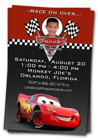 cars invitation cards templates детский день рождения в стиле тачки молния маккуин