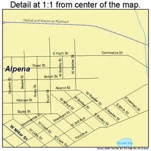 Alpena Michigan Map by Alpena Michigan Street Map 2601740