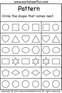 pattern free printable worksheets worksheetfun