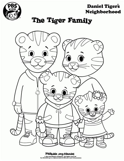 daniel tiger coloring pages coloring home
