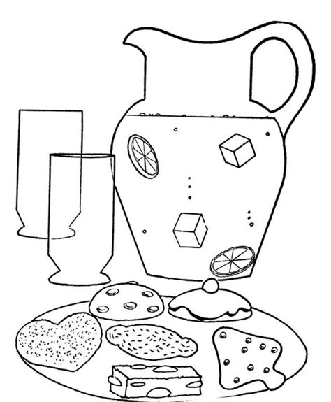 lemonade coloring page coloring home