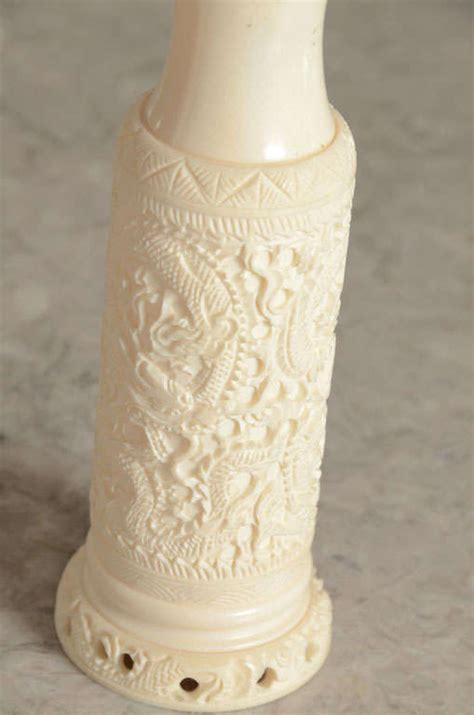 Ivory Vases by Pair Of Carved Ivory Vases At 1stdibs