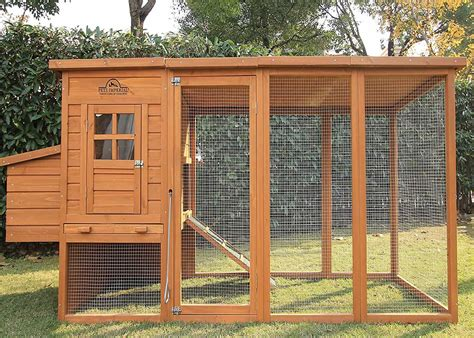 chicken coop with extra long run 8ft 2 asphalt roof suitable for 4 6 birds depending on size