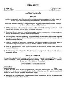 Construction Controller Sle Resume by Assistant Financial Controller Resume Sales Assistant Lewesmr