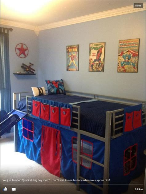 curtains for little boy room boys super hero loft bedroom junior fantasy loft bed with
