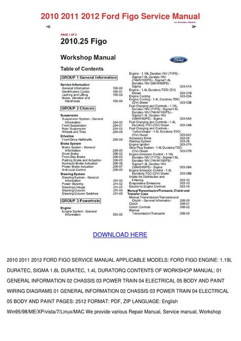 2010 2011 2012 ford figo service manual by julianehobbs7 issuu