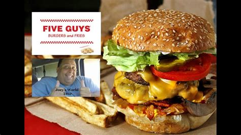 guys burgers fries bacon cheeseburger review youtube